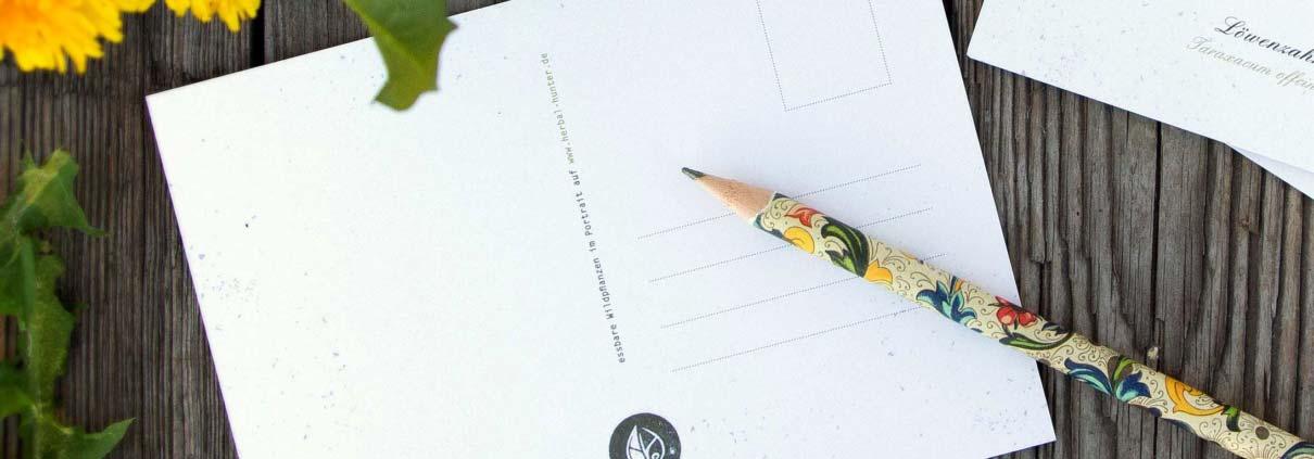 Kräuterpostkarten vom Herbal Hunter –– Newsletter abonnieren!